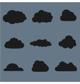clouds collection Black vector image vector image