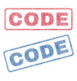 code textile stamps vector image vector image