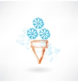 Cold ice-cream grunge icon vector image vector image