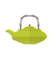 colored flat asian teapot vector image vector image