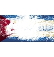Cuban flag Grunge background vector image vector image