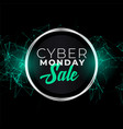 cyber monday sale banner in futuristic style vector image