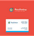 dart logo design with business card template vector image vector image