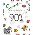 Discount 90 Discounts price tag Black Friday vector image vector image