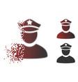 dust pixel halftone policeman icon vector image vector image