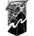 eagle rising vector image vector image