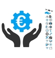 Euro Maintenance Hands Icon With Copter Tools vector image vector image