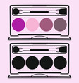eyeshadow palettes vector image vector image