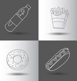 Fast food flat vector image