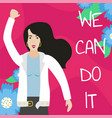 feminist girl power poster we can do it vector image vector image