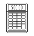 financial calculator icon outline style vector image vector image