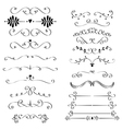 Flourishes ans curls vector image