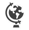 globe solid icon world and geography vector image vector image