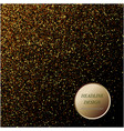 gold glitter texture on a black background vector image vector image