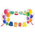 Hanging clothes with colorful balloons vector image vector image