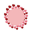 hearts and love frame vector image vector image