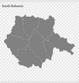 high quality map is a region czech republic vector image vector image