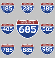 INTERSTATE SIGNS 185-985 vector image vector image