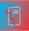 liquid dynamic blue-red gradient fluid shape line vector image