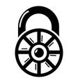 lock modern icon simple black style vector image