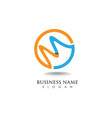 m logo business template icon vector image