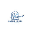 magpie homes house logo icon vector image vector image