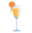 mimosa cocktail isolate on a white background vector image