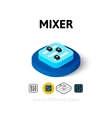 Mixer icon in different style vector image vector image