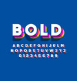 Modern bold font design alphabet letters and