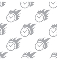 New Hot clock seamless pattern vector image vector image