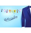 paper art style blue suit with neckties hanging vector image vector image