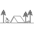 picnic place one line drawing vector image vector image
