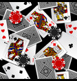 playing cards and casino chips seamless pattern vector image vector image