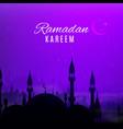 ramadan kareem holiday night arabian city vector image