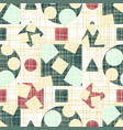 retro design tissue with geometric shapes vector image