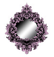 rich purple baroque mirror frame french vector image vector image