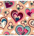 Romantic seamless pattern with colorful hand draw vector image vector image