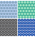 seamless abstract geometrical art pattern set vector image vector image