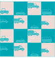 seamless background with car vector image vector image