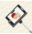 selfie with monopod design vector image