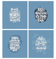 set with life style inspiration quotes about vector image vector image