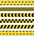 set yellow barrier tapes vector image