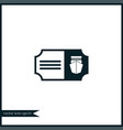 ship ticket icon simple vector image vector image