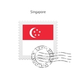 Singapore Flag Postage Stamp vector image vector image