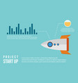 start up business infographic with graph vector image vector image