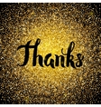 Thanks Gold Design vector image vector image