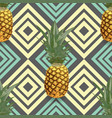 tropical seamless pattern with pineapples exotic vector image vector image