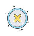 user interface icon design vector image vector image
