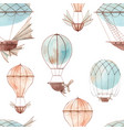 watercolor fairy aircrafts pattern vector image vector image