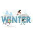 winter sport flat style design vector image